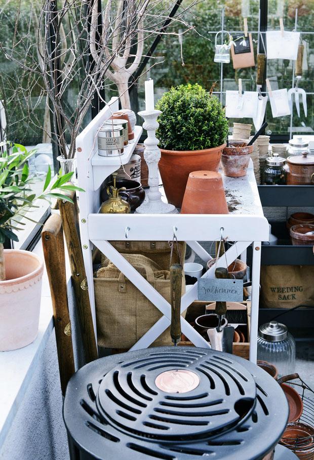 växthusplanteringsbordvår